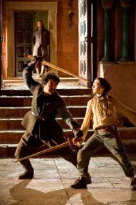 Arya and Syrio water dancing