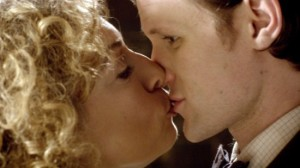 Melody Pond and the Doctor kissing