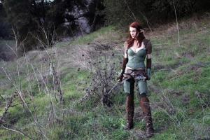 Image of Felicia Day as Tallis - elf in Dragon Age Redemption