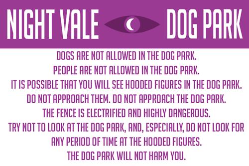 Night Vale Dog Park Quote